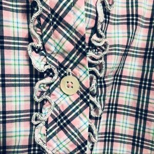 Lilly Pulitzer Tops - Lilly Pulitzer Pink Plaid Ruffle Shirt